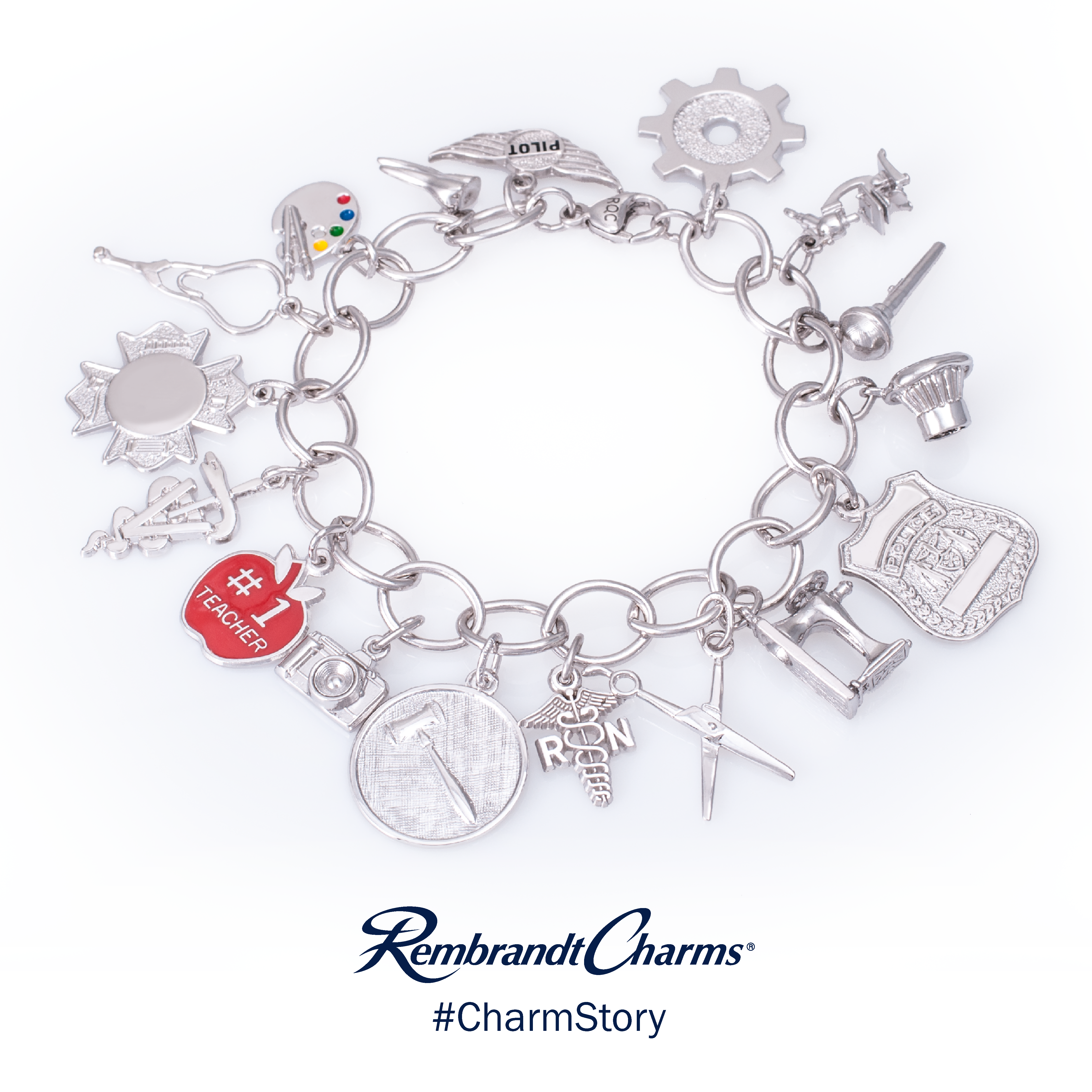Rembrandt Charms - Professions_Bracelet.png - brand name designer jewelry in Edenton, North Carolina